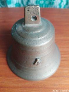 Antigua campana de bronce NUMERACION 4 ( vendida, sold)