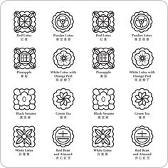 Tung Lok mooncake motifs (Image courtesy of Tung Lok)