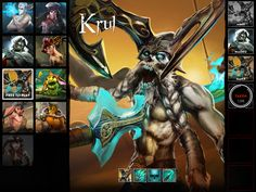 Krul the beast from Vainglory game