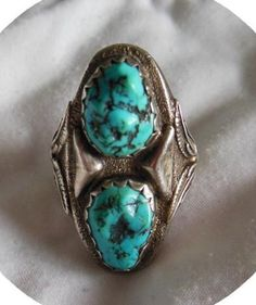 Mens Large Size Turquoise Ring