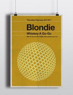 Blondie concert miniposter  mid century / by TheStereoTypist, £10.00