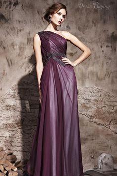 Imperio moderno de un solo hombro de baile / vestido de noche Vestidos para ocasiones especiales