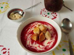 Supa crema de sfecla rosie Supe, Pudding, Desserts, Food, Cream, Tailgate Desserts, Deserts, Custard Pudding, Essen