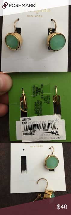 Kate Spade gold earrings Brand new authentic Kate Spade gold and green beautiful earrings. 2 available. kate spade Jewelry Earrings