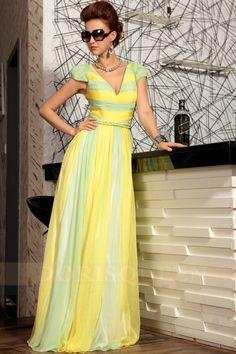 2013 fashion V-neck long dress