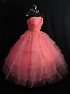 1950s Tulle Party DressIt looks like a Lottie LaBouffe dress!