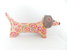 Stuffed Animal Toy  Dachshund   Doxie Toy  Wiener by PlatoSquirrel, $34.00