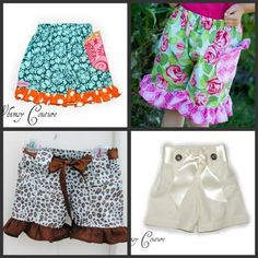 Whimsy Couture  Girls Ruffle Shorts   Sewing by whimsycouture, $9.00