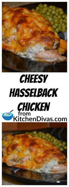 Cheesy Hasselback chicken This recipe is a great way to make chicken and the possibilities are endless. You are limited only by your personal taste and desires! Cheesy Hasselback chicken is delicious and should be tried by everyone! Good Meatloaf Recipe, Best Meatloaf, Meatloaf Recipes, Turkey Recipes, Chicken Recipes, Hasselback Chicken, Chicken Kitchen, Dinner Entrees, Personal Taste