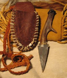 Flint Knapped Stone Blade Arrowhead Knife by MountainManStyle, $45.00