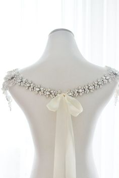 Crystal Bridal Bolero Rhinestone wedding by abigailgracebridal