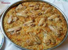 V rúre dusená ryža s kuracím mäsom (fotorecept) - Recept