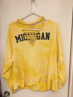 45e511a5 Items similar to Vintage Distressed Michigan Long Sleeve on Etsy. Game Day  ShirtsT Shirt DiyTailgatingShirt ...