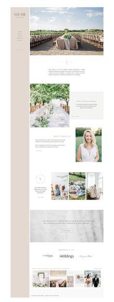 Wedding Planner Website by Ashley & Malone