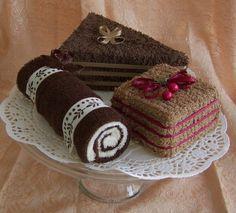 Handdoek taarten chocolade liefhebbers Set van drie Mini