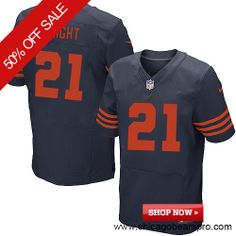 $129.99 Men's Nike Chicago Bears #21 Major Wright Elite 1940s Throwback Blue Jersey