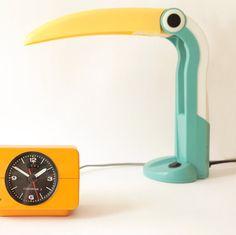 Toucan lamp and KRUPS Comfortime alarm clock