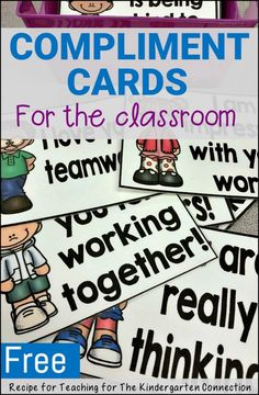 These must have compliment cards are great for building teamwork in the classroom!