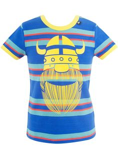 "#Danefae T-Shirt ""California Erik"" - € 30,75 - Wikimo Kindermode, Kinder Shirt, blau bunt gestreift by Danefae Pullover, T Shirt, Tops, Fashion, Spring Summer, Shell Tops, Guys, Tee, Moda"