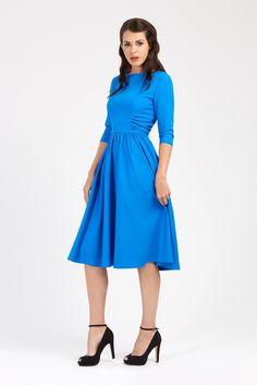 1940s shirred dress at Zoe Vine 1940s Dresses c00083596fd5