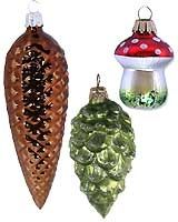 Blown Glass Christmas Ornaments....I have that mushroom one from the 70's
