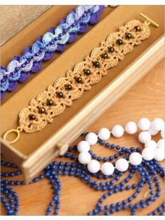 Boardwalk Bracelet | InterweaveStore.com  - I'm thinking of using a variant of this bracelet to make trim for a Chanel-style jacket.