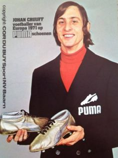 Cruyff with his silver boots
