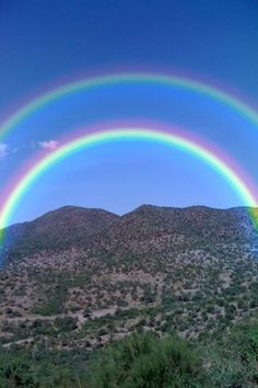 (Check this out - God's Promise ,,, How beautiful)  Double Rainbow Double Beauty.