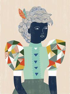 sarah walsh's geo prism girl illustration