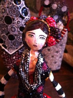 Paper Mache Doll by Poudre Rose https://www.facebook.com/PoudreRoseCreations