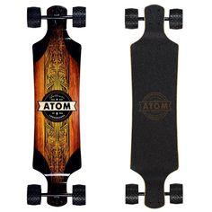 "Atom All-Terrain 39"" Drop Down Longboard Drop Deck Longboard, Drop Through Longboard, Atom Longboards, Outdoor Gazebos, Skateboard Design, Bike Chain, Mountain Bicycle, Mbs, Longboarding"