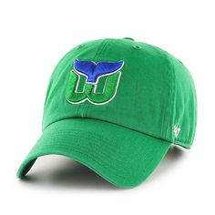 Hartford Whalers 47 Brand Kelly Green Vintage Clean Up Adjustable Slouch Hat  Cap 5a5c63fbfccc