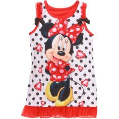 Minnie Mouse Baby Toddler Girl Sleeveless Graphic Nightgown