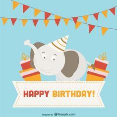 birthday wishes for him Happy Birthday Elephant, Happy Birthday Greeting Card, Happy Birthday Messages, Card Birthday, Birthday Wishes, Happy Birthday Pictures, Birthday Images, Happy Cake Day, Birthday Design