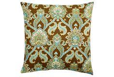 Donatella 20x20 Pillow, Turquoise on OneKingsLane.com