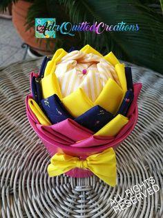Flower in a pot fabric pot flower pot flower tabletop decor Flower Ball, Flower Pots, Unique Housewarming Gifts, Quilted Ornaments, Styrofoam Ball, Heart Ornament, Teacher Appreciation Gifts, Fabric Decor, Decor Crafts