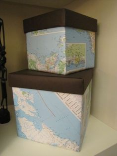 I love maps and globes so this idea definitely appeals to me...