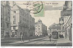 Roumanie - Timisoara - Piata Sf. Gheorghe -  Horloger - Chemins de Fer Tramway