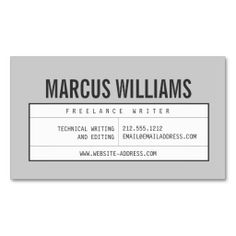 Bold Name with Vintage Grid on Gray Customizable Business Card Template