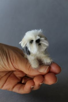 READY TO SHIP Needle Felted miniature Dog-Wool animal by ArteAnRy