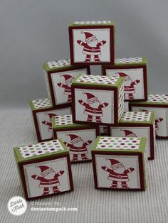 Envelope Punch Board Rocher Boxes