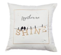 """Together we Shine 18"""" Canvas Pillow"""