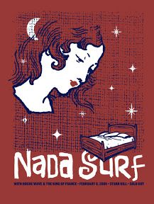 Date : 11 february 2012 Country : FR - France Town : Lille Location : Le Splendid SetList : Clear Eye Clouded Mine Waiting Fo. Music Posters, Cool Posters, Concert Posters, Nada Surf, Rogue Wave, Surf Music, Rock Band Posters, Rock Art, Cool Bands