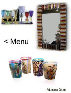 Glasses, goti de fornasa, mirrors, set od drinkwares, vases, cups for a unique touch in your house