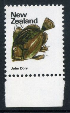 NZ Error 1970 Pict 8c John Dory Fish, background blue green colour omitted, The Water, simply striking, key thematic Fish error