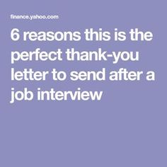 6 reasons this is the perfect thank-you letter to send after a job interview Thank You After Interview, Interview Follow Up Email, Interview Thank You Letter, Job Interview Answers, Teaching Interview, Job Interview Preparation, Job Interviews, Job Help, Job Info