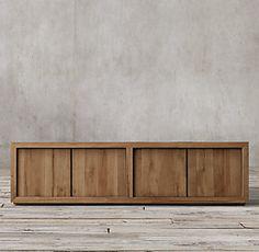 Reclaimed Russian Oak Panel Collection - Reclaimed Natural Oak | RH