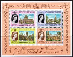 1978 Montserrat Coronation 25th Anniversary Minature Sheet Fine Mint SG MS 426 Scott 388a Cathederals  Other Montserrat Stamps HERE
