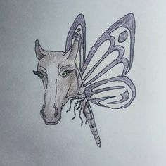 #MySketchbook #CH #Page #87 #creature #concept #conceptart #fantasy #bestiary #animal #horse #butterfly #bug #insect #forest #beast #eyelashes #graphic #design #purple #drawing #sketch #ink #tagforlikes #art #MyArt