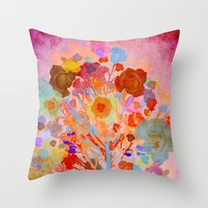 Buy Floral abstract(46). Throw Pillow by Mary Berg. Worldwide shipping available at Society6.com. Just one of millions of high quality products available.